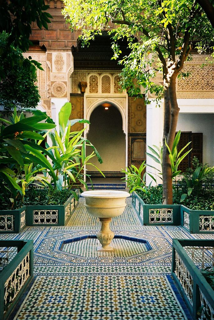 El Bahia Palace, Marrakech, Morocco, this is how I plan to tile the courtyard.