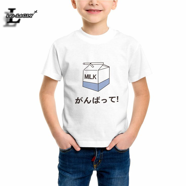 >> Click to Buy << Summer Boys Girls T-shirt Japanese Milk Baby Tshirt Kids Cartoon T-shirts Popular Harajuku Casual Workout Children Tops EH708 #Affiliate