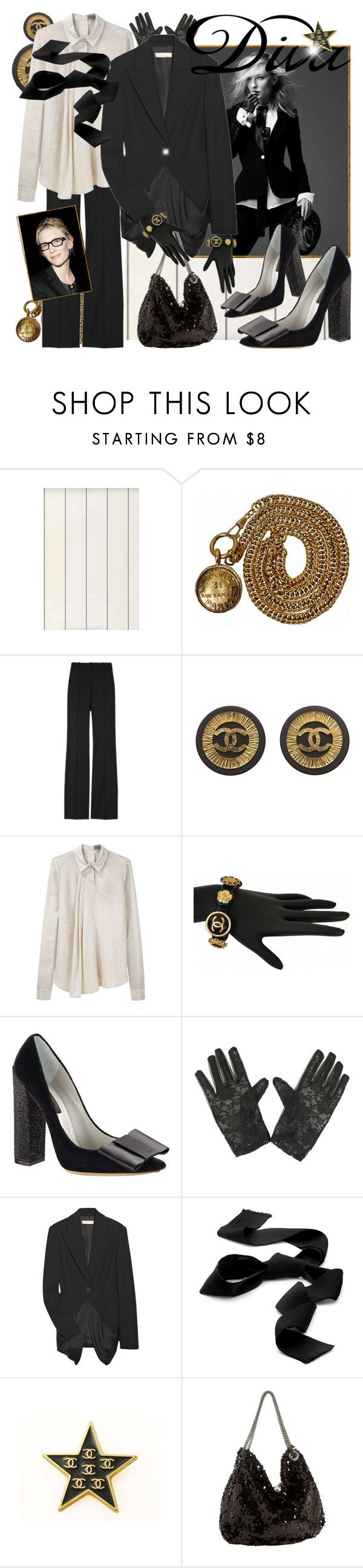"""""""Cate Diva II"""" by bullygrrl ❤ liked on Polyvore featuring Ralph Lauren, Chanel, Michael Kors, Felix, Preen, Louis Vuitton, Forever 21, Hermès, DIVA and Melie Bianco"""