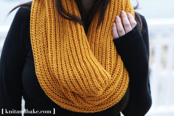 Knitting Pattern Cowl Shrug : Free Infinity Cowl Knitting Pattern Car Interior Design