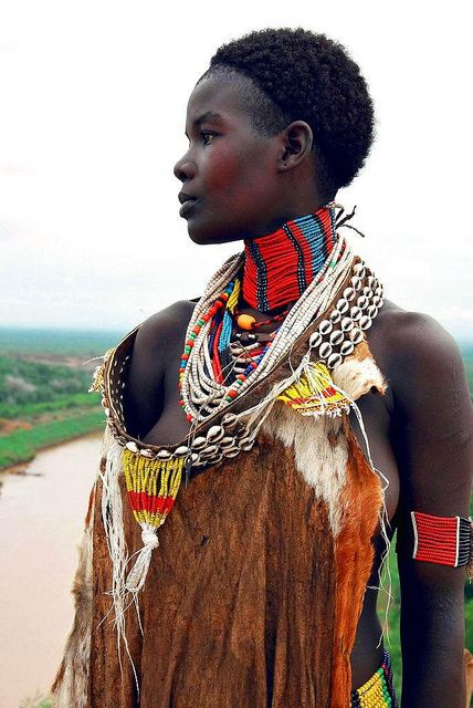 Woman from Ethiopia. Strength and beauty