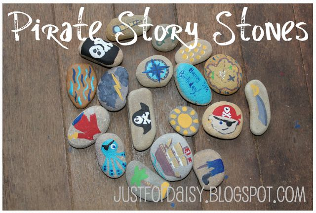 Pirate Story Stones :: Just For Daisy