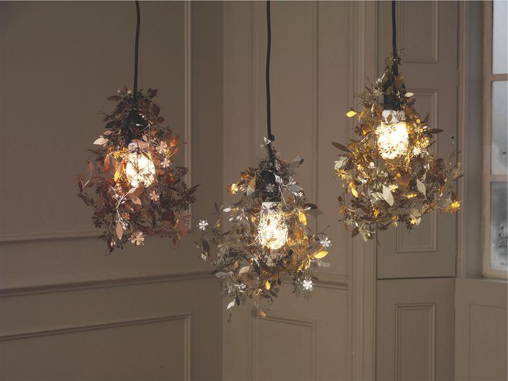 GARLAND METALLICS Metal Copper etched metal floral lampshade - HabitatUK