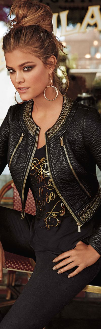 Bebe August CATALOG 2014 ● BEBE KAYLA EMBELLISHED JACKET by lookandlovewithlolo