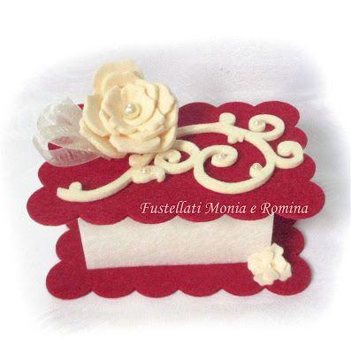kit feltro scatola bauletto cofanetto scatolina bomboniera fai da te idea regalo pannolenci battesimo comunione cresima matrimonio anniversario
