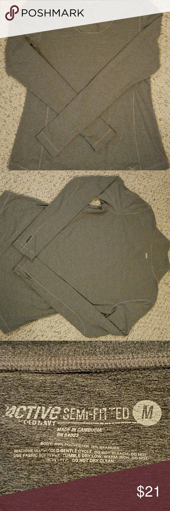 Old Nacy semi fitted long sleeve shit Long sleeve shirt with thumb holes from Old Navy Old Navy Tops Sweatshirts & Hoodies