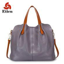 Mujeres de lujo del bolso de cuero de Las Mujeres bolsos de marcas de diseñadores famosos bolsos de hombro de cuero de las mujeres bolsa feminina mujeres grandes bolsos(China)