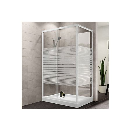 View Plumbsure Rectangular Shower Enclosure with White Frame & Single…