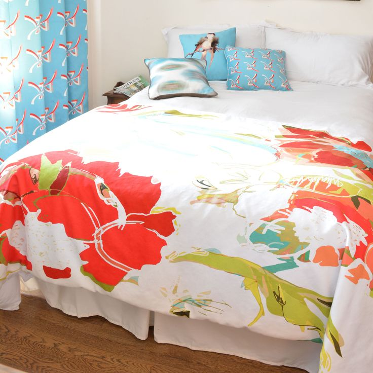 Tropical floral bedroom, Zephyr. http://www.facebook.com/kenisa.home