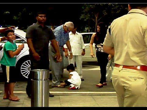 WATCH Aishwarya Rai's daughter Aaradhya Bachchan touching her nanaji's feet TOO MUCH CUTENESS.  See the full video at : https://youtu.be/I2ip7dKdA9A #aishwaryarai #bollywood #bollywoodnews
