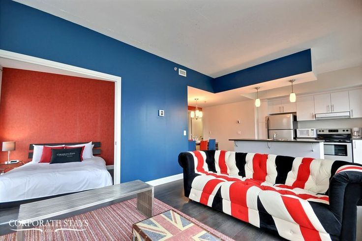 For something completely different - check out 'Heritage' a funky 2-bedroom in Quebec City #decor #modern #sofa #QuebecRental