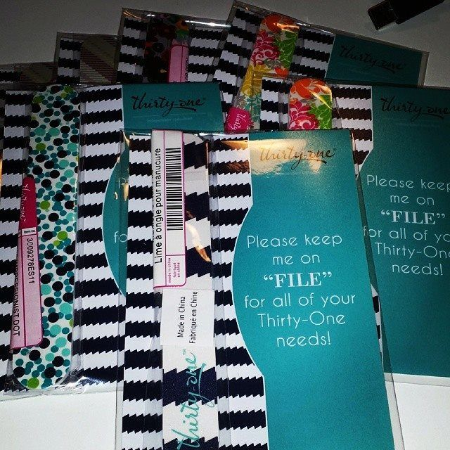 send nail files thru the mail to all new customers in clear envelopes