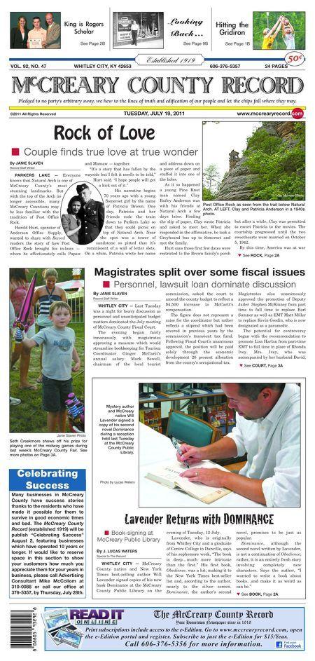 McCreary County Record - July 19, 2011