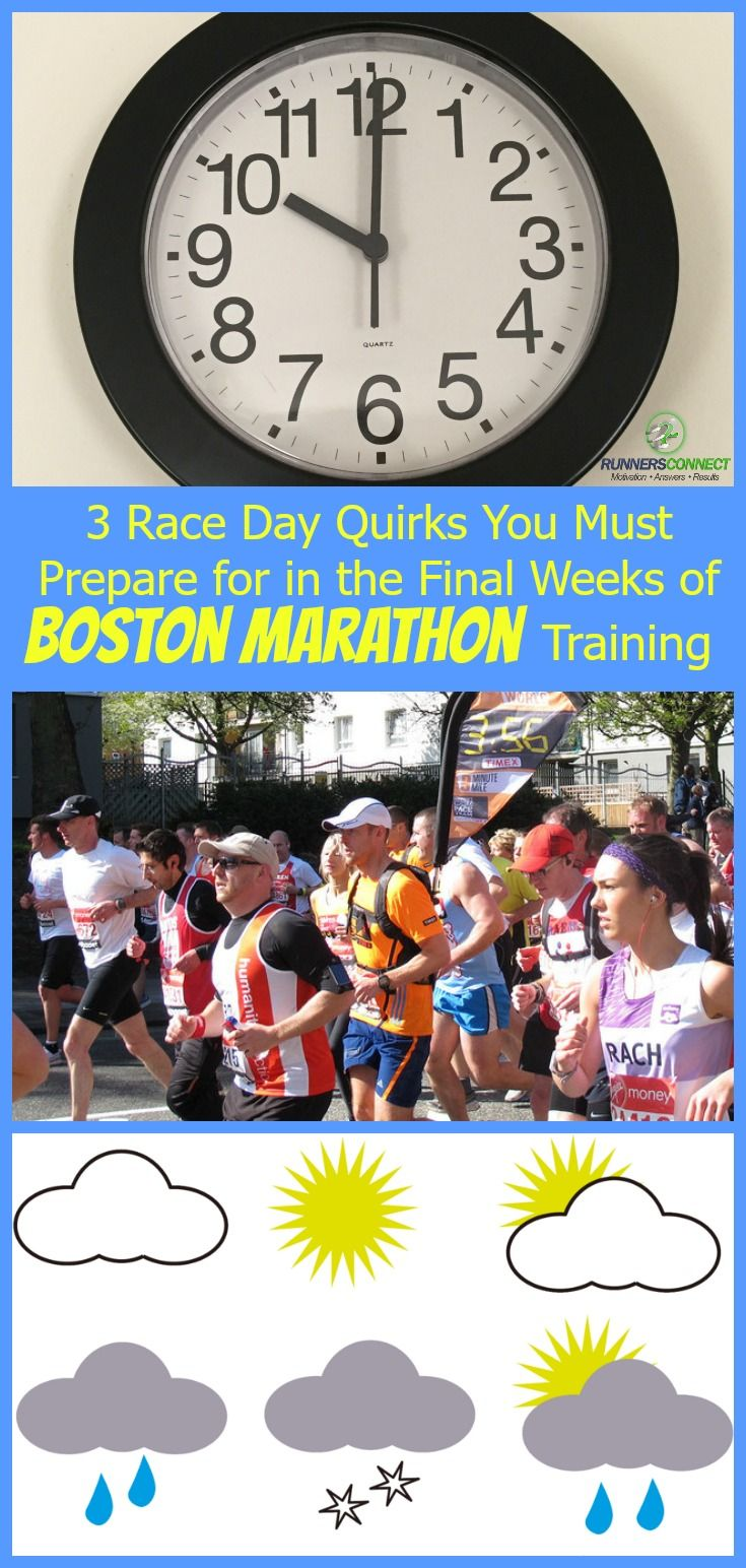 3 important and unique factors to racing the Boston Marathon and steps you can take in the final weeks to have a great race at the Boston Marathon.