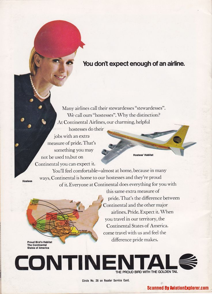 Vintage Airline Aviation and Aerospace Ads - CONTINENTAL_AIRLINES-ad.jpg - Magazine Advertisement Picture Scans