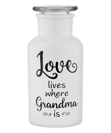 Look what I found on #zulily! 'Love Lives Where Grandma Is' Glass Pharmacy Bottle #zulilyfinds
