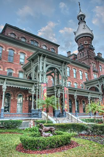 University of Tampa has a gorgeous campus with a rich history that is perfect for exploring. It used to be the Tampa Bay Hotel owned by Henry B. Plant in the 1890s. There is a museum there still honoring the original opulence of it's heyday.