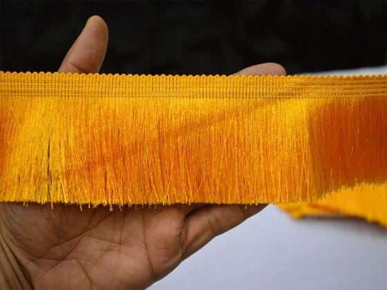 2 Yard Yellow Brush Fringe Trim Tape Laces For Dresses