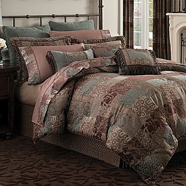 croscill classics catalina brown 4pc comforter set on