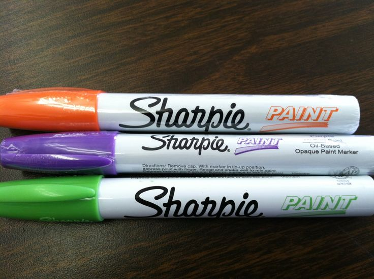 Sharpie paint pens- write on any slick surface: desk, posters, tables. Permanent until you take it off (hand sanitizer, or alcohol, or expo marker). Cool,