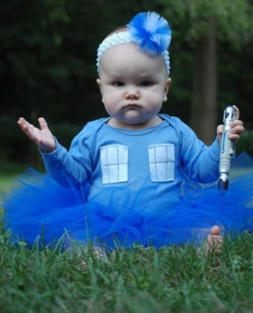 It's not just the costume, it's the pose that just says, I am the TARDIS do you have a problem with that?
