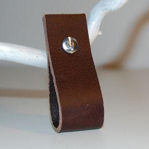 Lædergreb brun front