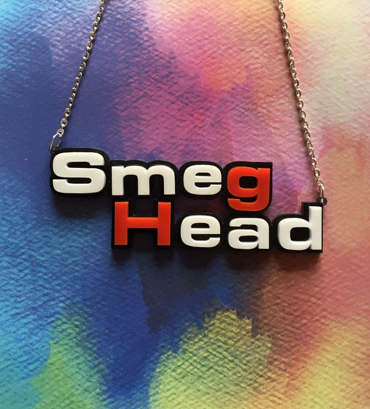 Smeg Head Laser Cut Acrylic Red Dwarf Statement 16 Inch Necklace by SkullyBunting on Etsy