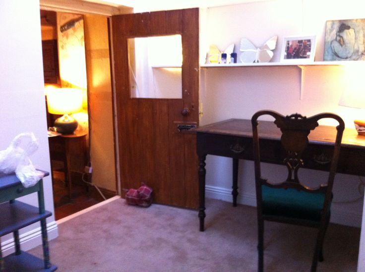 New office at Kincora House, desk procured from Rustwood Vintage Furniture.