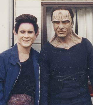 Jeffrey Coombs and Casey Biggs on set of DS9 ~ Coombs plays several characters in the Star Trek progs and he's brilliant in every one!
