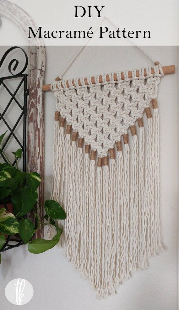 DIY Macrame Pattern Wall Tapestry Pattern Instant Download | Etsy
