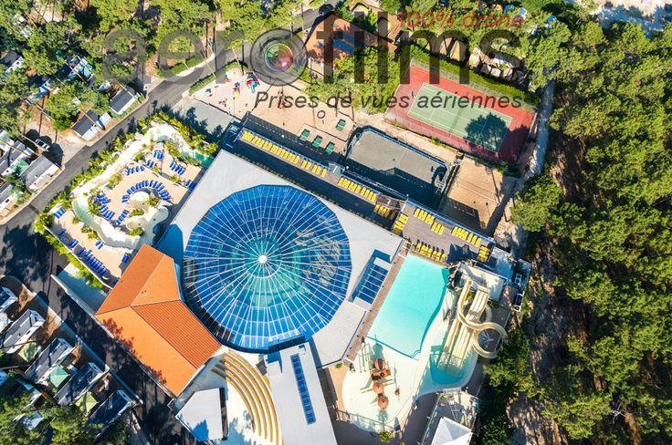 Superbes installations nautiques du camping Airotel L'Océan - Aqualiday Lacanau avec 5000 m2 d'espace aquatique, dont 1500 m2 couverts.