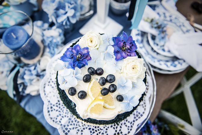 ... Hochzeitsdeko blau, Dekoration Hochzeit, romantische Tischdeko blau