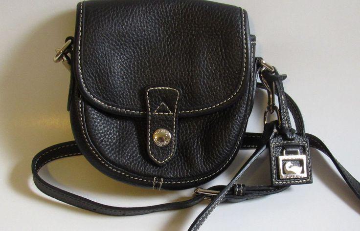 Dooney Bourke Crossbody bag Small Black Pebbled Leather J3516155 EUC #DooneyBourke #MessengerCrossBody