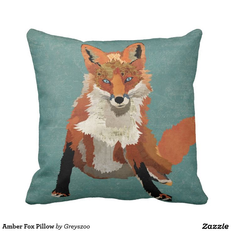 Amber Fox Pillow.  Artwork designed by Greyszoo. Price $32.90 per pillow