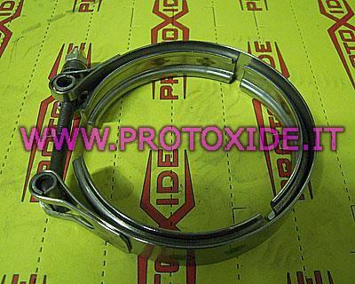 Fascetta V-band 90mm al prezzo di 57,00 € Euro.  Fascetta di chiusura a V-band può essere impiegata su turbocompressori o altre applicazioni come scarichi o marmitte.