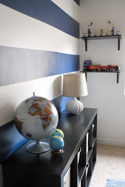 The Shabby Nest: Scotch Blue Painting Party - A Striped Wall