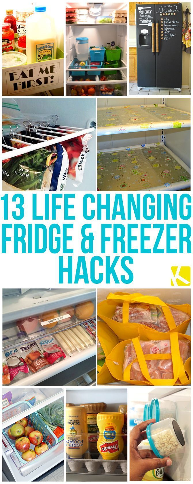 13 Life Changing Fridge and Freezer Hacks. -- These things are Genius!