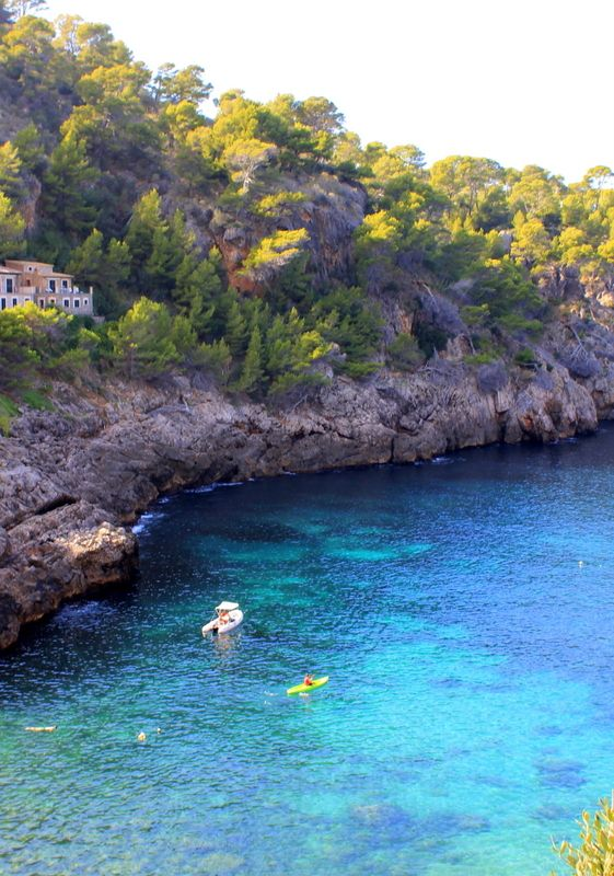 Cala De Deia, Mallorca. Full album @ artsyadventuress.com and photos at instagram.com/artsyadventuress #Mallorca # Travels # Photography #ocean #sea #Mediterranean #bluewater #water #28mm #canon #caladedeia #deia #island #swim #snorkel #mountains #explore #adventure #beach #hike #cliff #serradetramuntana #beautiful #inspiring #wanderlust