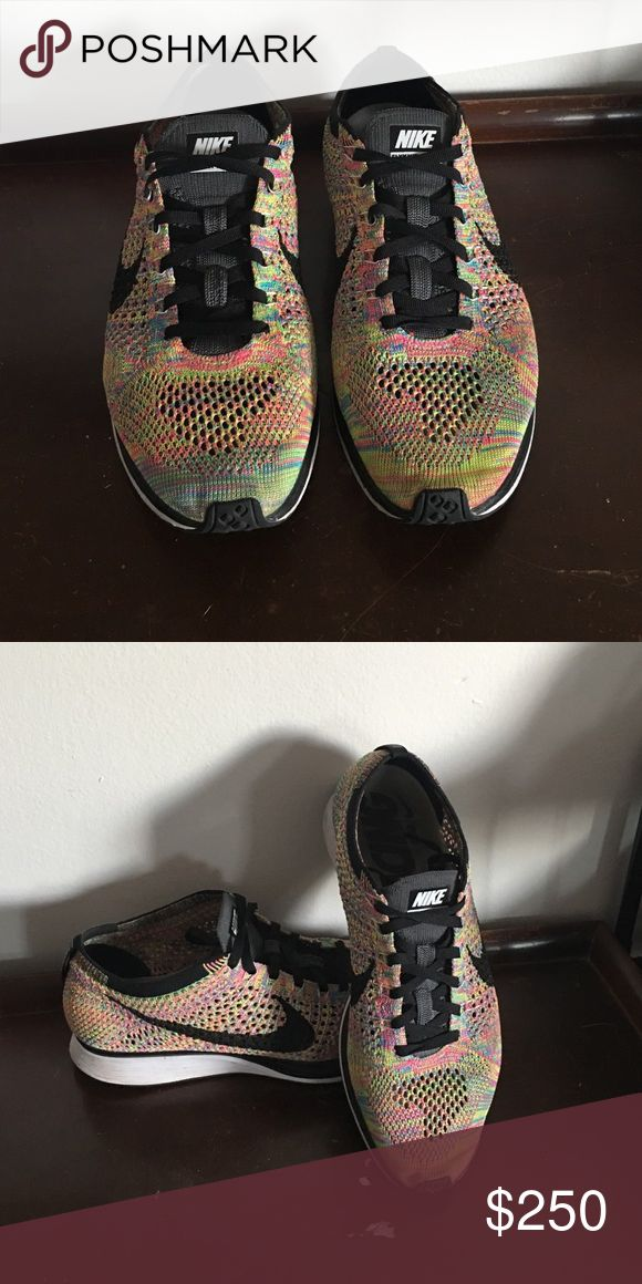 2016 Multicolor Flyknit Racers Slightly worn. By far some of the comfiest and lightest shoes ever. If you're a hype beast you already know though. Nike Shoes Athletic Shoes