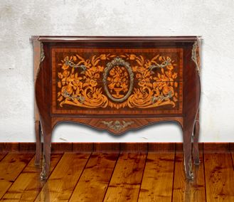 Commode -Louis Xv: Hand made French style marquetry commode. http://mousasgallery.com/furniture/-antique-commode-