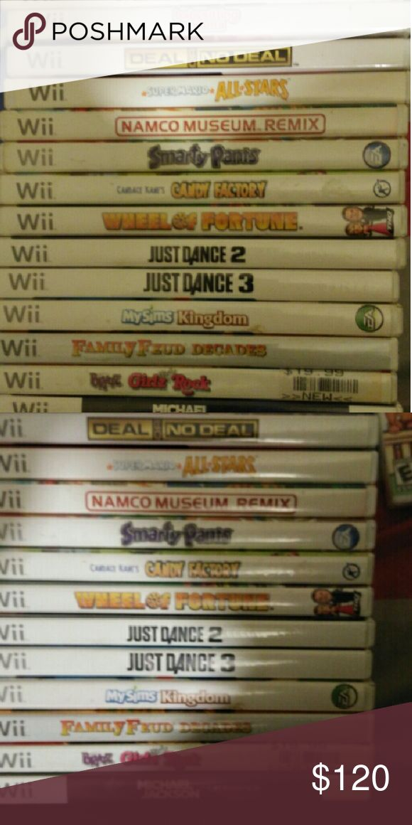 Wii Game Bundle Cleaning out the closet and I'm selling 8 Wii Games all are used. The Games are U Draw Studio, Deca Sports, Babysitting Mama, Deal or No Deal, Smarty Pants, Candy Factory and Bratz Girl Rock. Wii Other