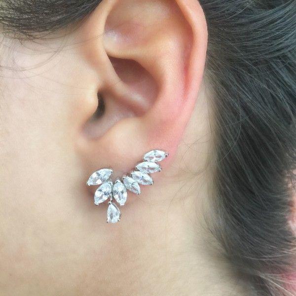 Brinco Ear Cuff Gota Navete – Lanarée Acessórios