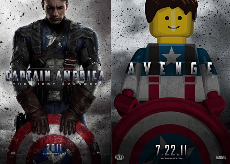 LEGO Captain America Movie Poster