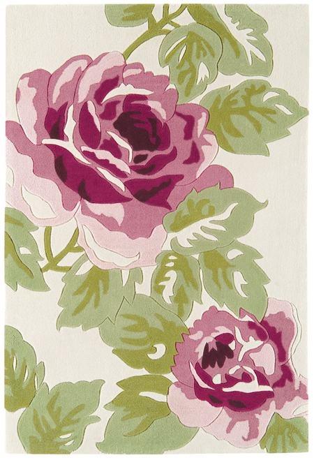 Harlequin Rose Pink Rug HA10-028 £68 with anti slip mat