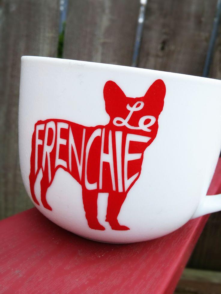 Le Frenchie mug - French bulldog, Frenchie, bulldog love, ceramic mug
