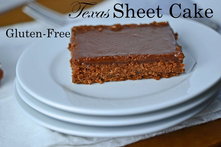 Gluten-free Chocolate Texas Sheet Cake~~~Awesome gluten free cake even my gluten eating roomie requests this cake!!!