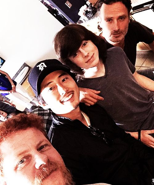 Michael Cudlitz, Steven Yeun, Chandler Riggs, & Andrew Lincoln, SDCC '15