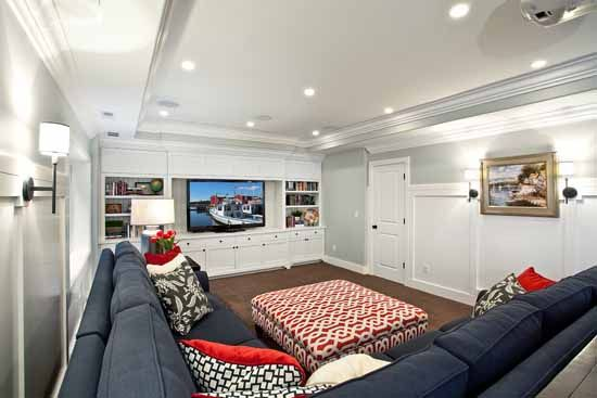 A Basement S Wainscot Treatment Makes The Walls Seem
