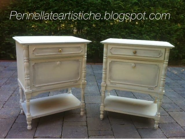 My bedside tables, look at my before and after on doctorshabbychic.com