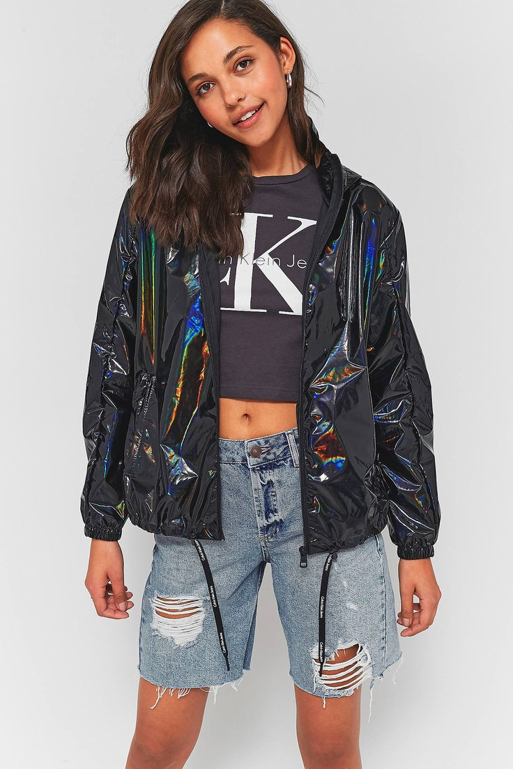 Shop Calvin Klein Metallic Petrol Spill Packable Rain Mac Jacket at Urban Outfitters today. We carry all the latest styles, colours and brands for you to choose from right here.
